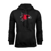 Black Fleece Hoodie-Redhawk Head