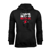 Black Fleece Hoodie-Tennis Game Set Match