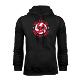 Black Fleece Hoodie-Volleyball Stars Design