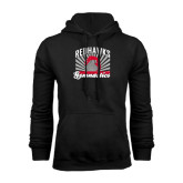 Black Fleece Hoodie-Redhawk Gymnastics Backflip