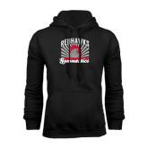 Black Fleece Hoodie-Redhawk Gymnastics Backflip