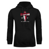 Black Fleece Hoodie-2017 OVC Mens Outdoor Track and Field Champions back to back