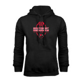 Black Fleece Hoodie-Tall Football Design
