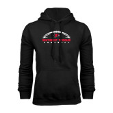 Black Fleece Hoodie-Arched Football Design