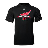 Under Armour Black Tech Tee-Track and Field Side Design