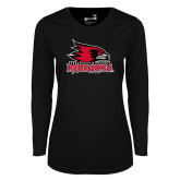 Bookstore Ladies Syntrel Performance Black Longsleeve Shirt-Primary Logo