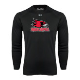 State Under Armour Black Long Sleeve Tech Tee-Official Logo