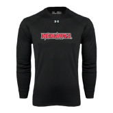 State Under Armour Black Long Sleeve Tech Tee-Redhawks