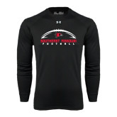 Under Armour Black Long Sleeve Tech Tee-Arched Football Design