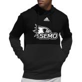 Adidas Black Team Issue Hoodie-SEMO Logo