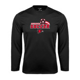 Syntrel Performance Black Longsleeve Shirt-Soccer Swoosh