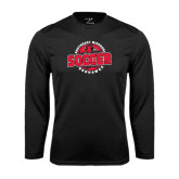 Syntrel Performance Black Longsleeve Shirt-Soccer Design