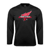 Syntrel Performance Black Longsleeve Shirt-Track and Field Side Design
