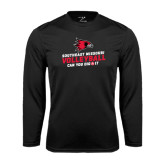 Syntrel Performance Black Longsleeve Shirt-Volleyball Can You Dig It