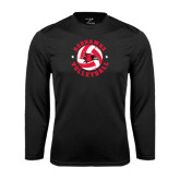 Syntrel Performance Black Longsleeve Shirt-Volleyball Stars Design