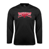 Syntrel Performance Black Longsleeve Shirt-Baseball Bats