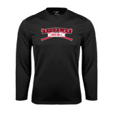 Syntrel Performance Black Longsleeve Shirt-Baseball Crossed Bats