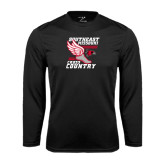 Syntrel Performance Black Longsleeve Shirt-Cross Country Winged Shoe