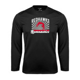 Syntrel Performance Black Longsleeve Shirt-Redhawk Gymnastics Backflip