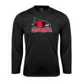 State Syntrel Performance Black Longsleeve Shirt-Official Logo