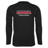 Bookstore Performance Black Longsleeve Shirt-Cheerleading