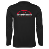 Bookstore Performance Black Longsleeve Shirt-Football
