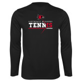 Bookstore Performance Black Longsleeve Shirt-Tennis
