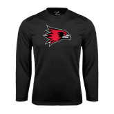 State Syntrel Performance Black Longsleeve Shirt-Redhawk Head