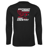Bookstore Performance Black Longsleeve Shirt-Cross Country
