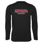 Bookstore Performance Black Longsleeve Shirt-Grandpa