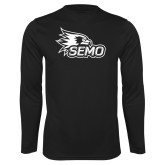 Bookstore Performance Black Longsleeve Shirt-SEMO Logo