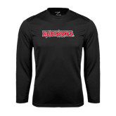 State Syntrel Performance Black Longsleeve Shirt-Redhawks