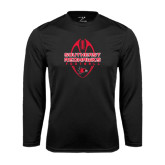 Syntrel Performance Black Longsleeve Shirt-Tall Football Design