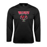 Syntrel Performance Black Longsleeve Shirt-Graphics on Basketball