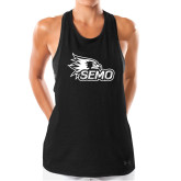 Bookstore Ladies Under Armour Black Pinhole Tank-SEMO Logo