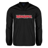 V Neck Black Raglan Windshirt-Redhawks