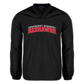 V Neck Black Raglan Windshirt-Arched Southeast Missouri Redhawks