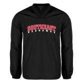 V Neck Black Raglan Windshirt-Southeast Redhawks