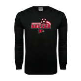 Black Long Sleeve TShirt-Soccer Swoosh