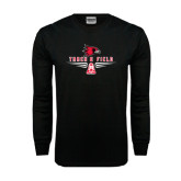 Black Long Sleeve TShirt-Track and Field Design