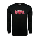 Black Long Sleeve TShirt-Baseball Bats