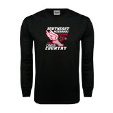 Black Long Sleeve TShirt-Cross Country Winged Shoe