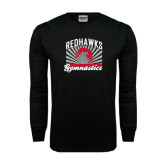 Black Long Sleeve TShirt-Redhawk Gymnastics Backflip