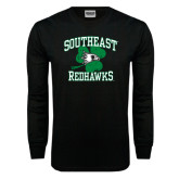 Bookstore Black Long Sleeve TShirt-Southeast Redhawks Shamrock