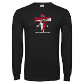 Bookstore Black Long Sleeve T Shirt-2017 OVC Mens Outdoor Track and Field Champions back to back