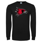Bookstore Black Long Sleeve T Shirt-Hawk Head