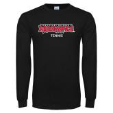 Bookstore Black Long Sleeve T Shirt-Tennis