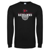 Bookstore Black Long Sleeve T Shirt-Basketball