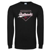Bookstore Black Long Sleeve T Shirt-Baseball