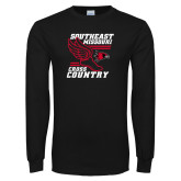 Bookstore Black Long Sleeve T Shirt-Cross Country